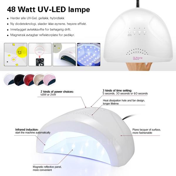 BodyGreen SUNUV SUNone DUAL LED lampe 48 Watt - UV-Gel, Gellack og LED